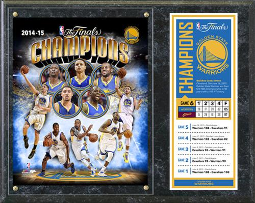 "Golden State Warriors 2015 NBA Champions 15""x12"" Stat Plaque"