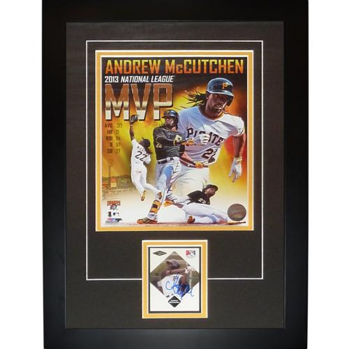 "Andrew McCutchen Autographed Pittsburgh Pirates ""Signature Series"" Card Frame - JSA"