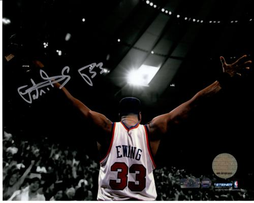 Patrick Ewing Autographed New York Knicks 8x10 Photo - Steiner