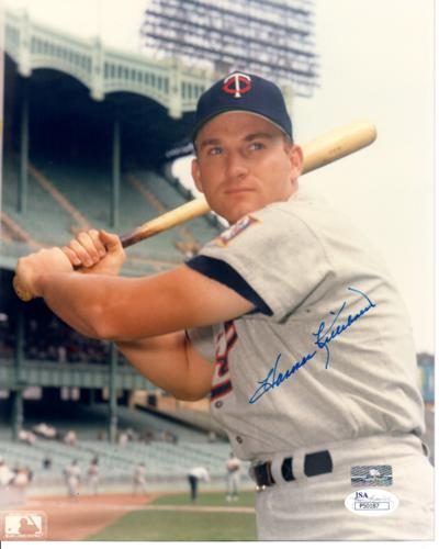 Harmon Killebrew Autographed Minnesota Twins 8x10 Photo - JSA
