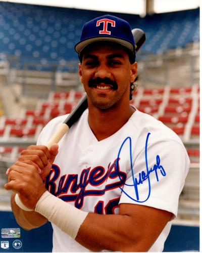 Juan Gonzalez Autographed Texas Rangers 8×10 Photo