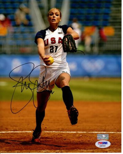 Jennie Finch Autographed Team USA Softball 8x10 Photo