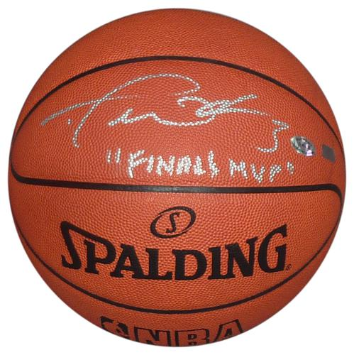 "Dwyane Wade Autographed NBA Official Game Basketball (Miami Heat) w/ ""Finals MVP"" - Wade Holo"