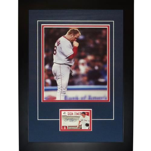 "Curt Schilling Autographed Boston Red Sox (Bloody Sock) ""Signature Series"" Frame"