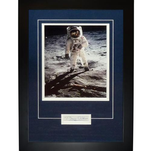 "Buzz Aldrin Autographed Astronaut (On Moon) ""Signature Series"" Frame"