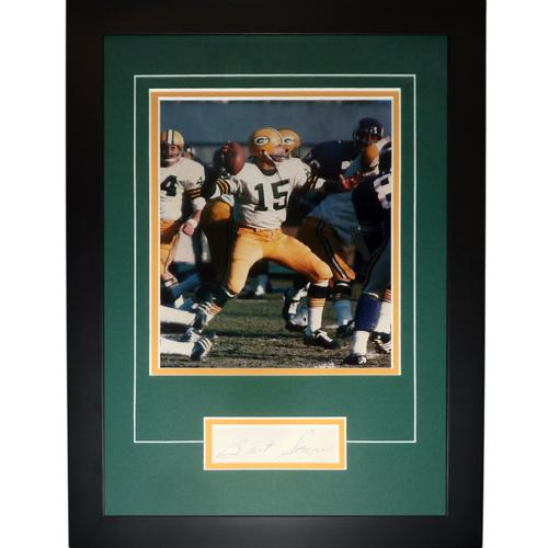 "Bart Starr Autographed Green Bay Packers ""Signature Series"" Frame"