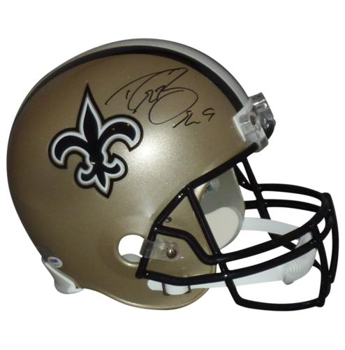 Drew Brees Autographed New Orleans Saints Deluxe Full-Size Replica Helmet - Brees Holo