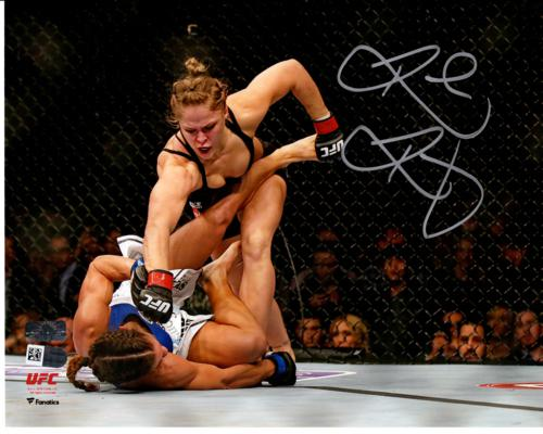 Ronda Rousey Autographed UFC (Horiz Punching) 8x10 Photo - Fanatics