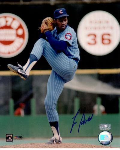 Lee Smith Autographed Chicago Cubs (Blue Jersey) 8×10 Photo