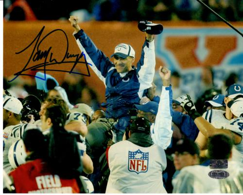 Tony Dungy Autographed Indianapolis Colts (Super Bowl XLI) 8×10 Photo – Steiner