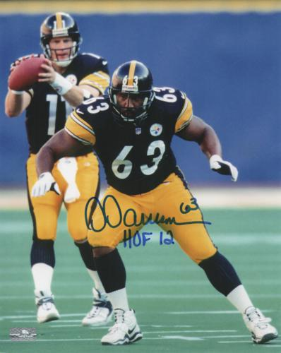 Dermontti Dawson Autographed Pittsburgh Steelers (Black Jersey) 8x10 Photo