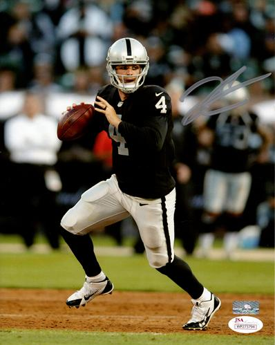 Derek Carr Autographed Oakland Raiders 8x10 Photo - PSADNA