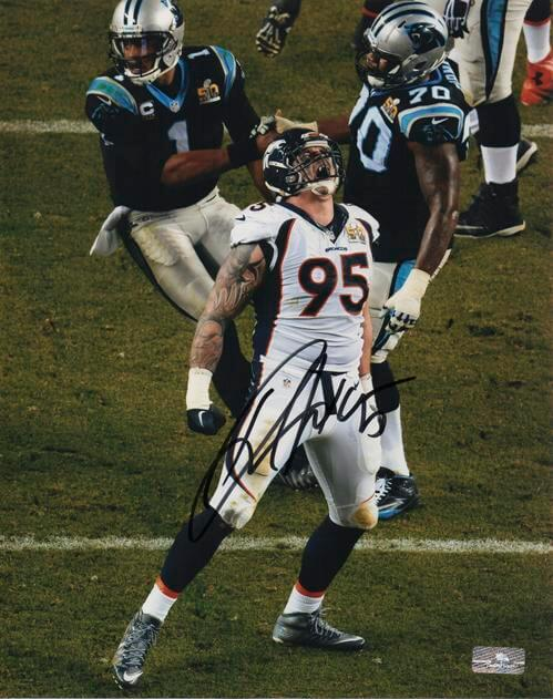 Derek Wolfe Autographed Denver Broncos (Super Bowl 50) 8x10 Photo