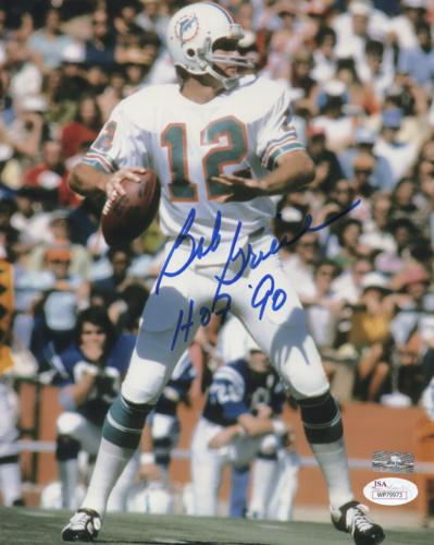 "Bob Griese Autographed Miami Dolphins 8x10 Photo w/ ""HOF 90"""