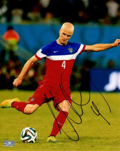 Michael Bradley Autographed USA Soccer 8x10 Photo