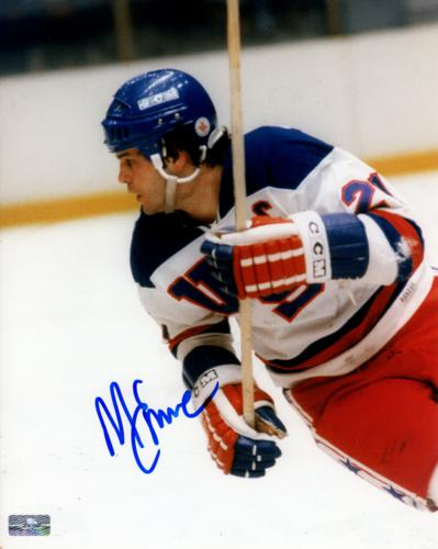 Mike Eruzione Autographed 1980 US Olympic Hockey (Action) 8×10 Photo
