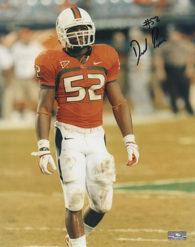 Denzel Perryman Autographed Miami Hurricanes 8x10 Photo