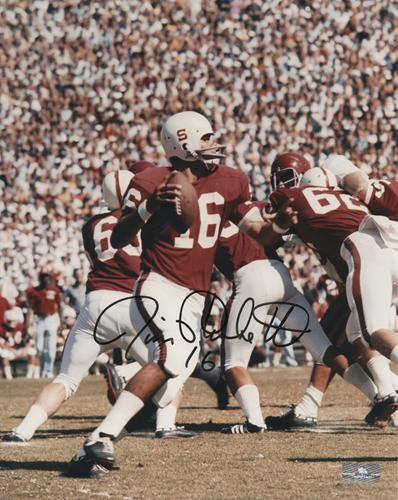 Jim Plunkett Autographed Stanford Cardinal 8x10 Photo