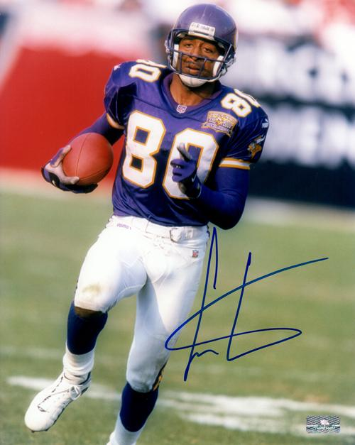 Cris Carter Autographed Minnesota Vikings 8x10 Photo