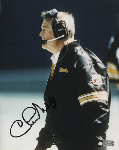 Chuck Noll Autographed Pittsburgh Steelers 8x10 Photo