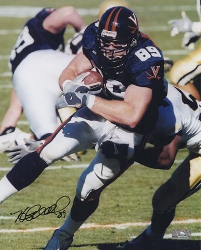 Heath Miller Autographed Virginia Cavaliers 8x10 Photo