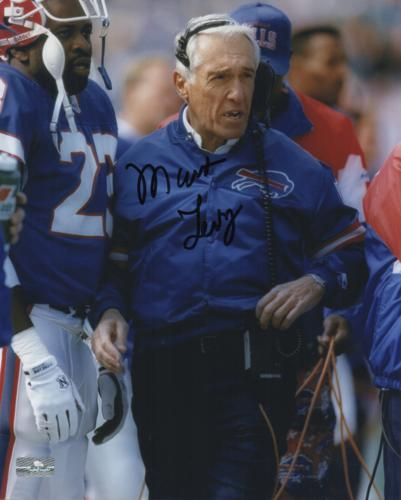 Marv Levy Autographed Buffalo Bills 8x10 Photo