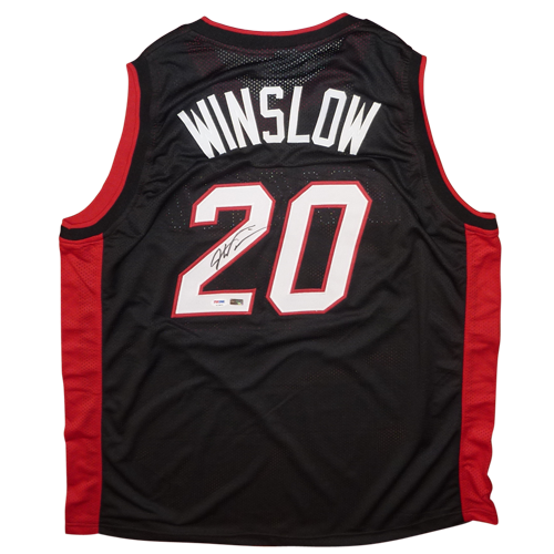 Justise Winslow Autographed Miami Heat (Black #20) Jersey - PSADNA