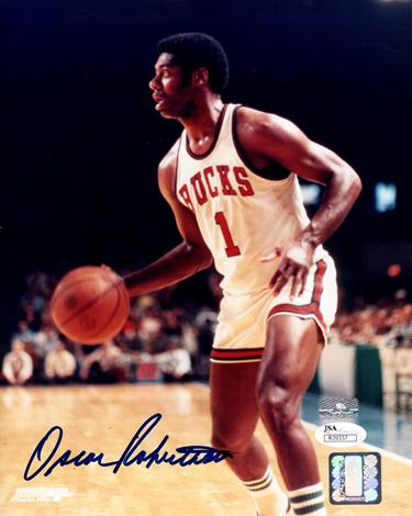 Oscar Robertson Autographed Milwaukee Bucks 8x10 Photo - JSA