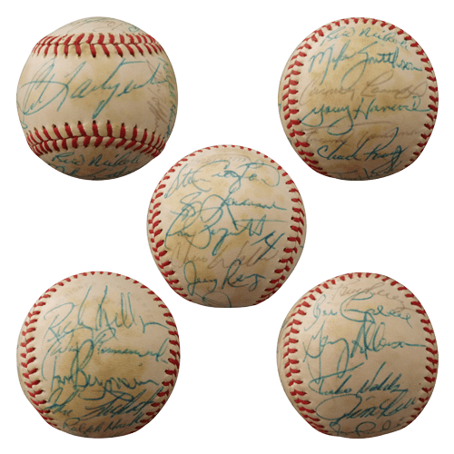 1981 Boston Red Sox Team Autographed OAL Baseball - Carl Yastrzemski - 25 Signatures - JSA Full Letter