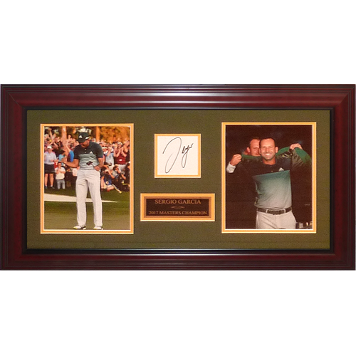 Sergio Garcia Autographed 2017 Masters Champion Tribute Collage Frame
