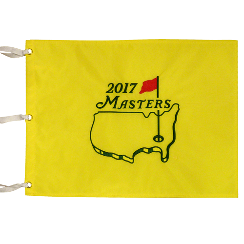 2017 Masters Embroidered Golf Pin Flag - Sergio Garcia Champion