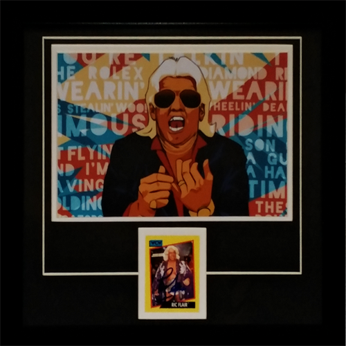 "Ric Flair Autographed Wrestling ""Signature Series"" Frame"