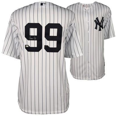 Aaron Judge Autographed New York Yankees (Pinstripe #99) Majestic Jersey - Fanatics