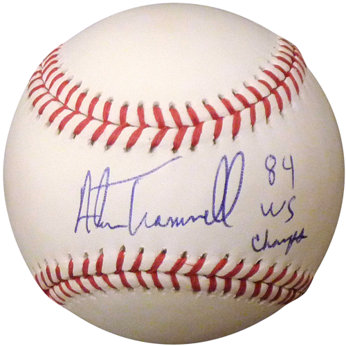 "Alan Trammell Autographed MLB Baseball w/ ""84 WS Champs"""