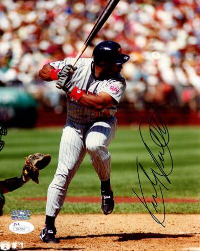 Kirby Puckett Autographed Minnesota Twins 8×10 Photo – JSA
