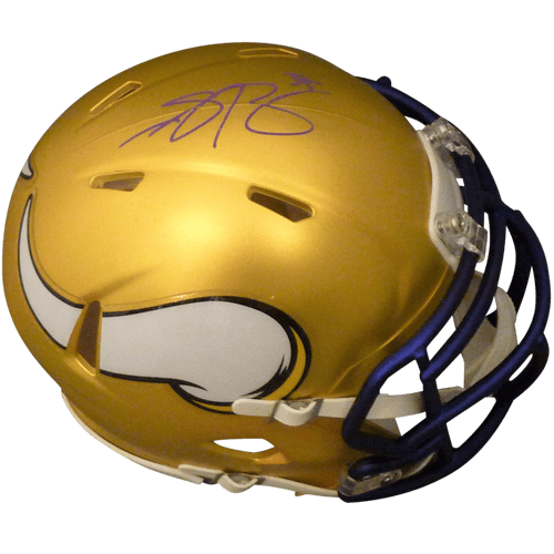 Anthony Barr Autographed Minnesota Vikings (Blaze Alternate) Mini Helmet