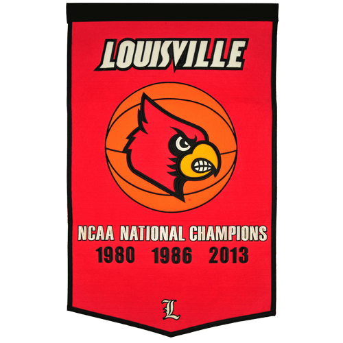 Louisville Cardinals Basketball Championship Dynasty Banner – with hanging rod