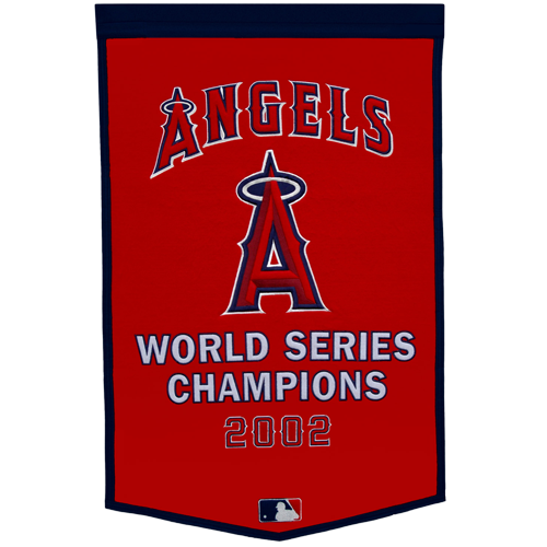 Los Angeles Angels World Series Championship Dynasty Banner – with hanging rod