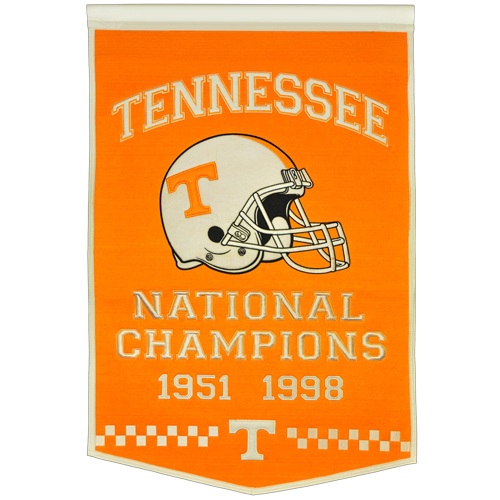 Tennessee Volunteers Football Championship Dynasty Banner – with hanging rod