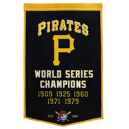 Pittsburgh Pirates World Series Championship Dynasty Banner – with hanging rod