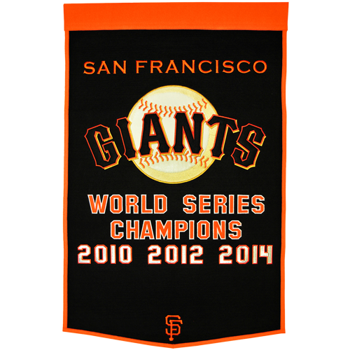 San Francisco Giants World Series Championship Dynasty Banner – with hanging rod