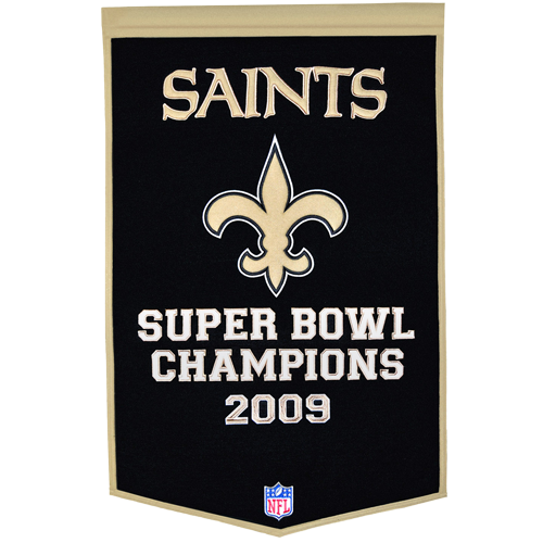 New Orleans Saints Super Bowl Championship Dynasty Banner – with hanging rod