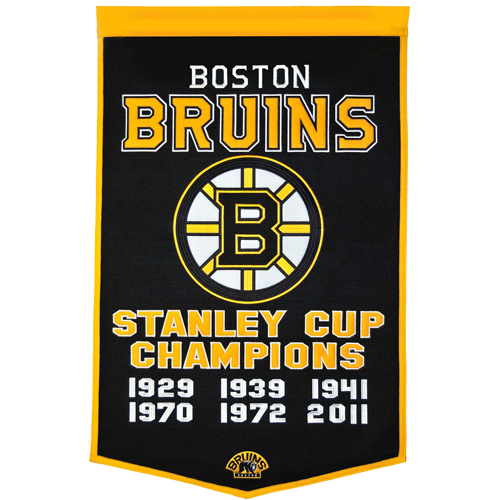 Boston Bruins Stanley Cup Championship Dynasty Banner – with hanging rod