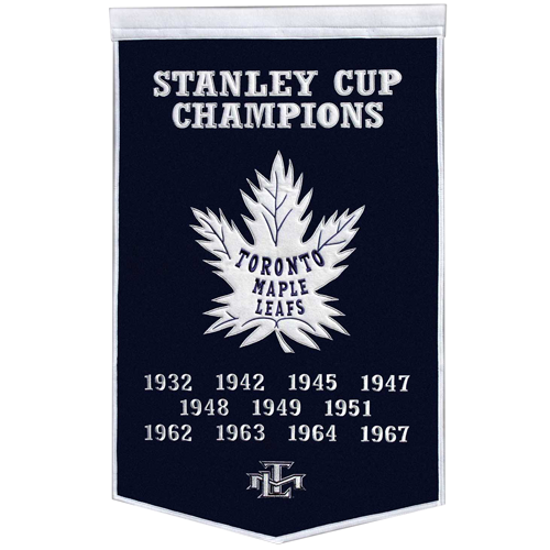 Toronto Maple Leafs Stanley Cup Championship Dynasty Banner – with hanging rod